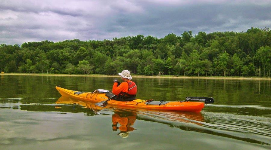 A kayaker exploring the Potomac.
