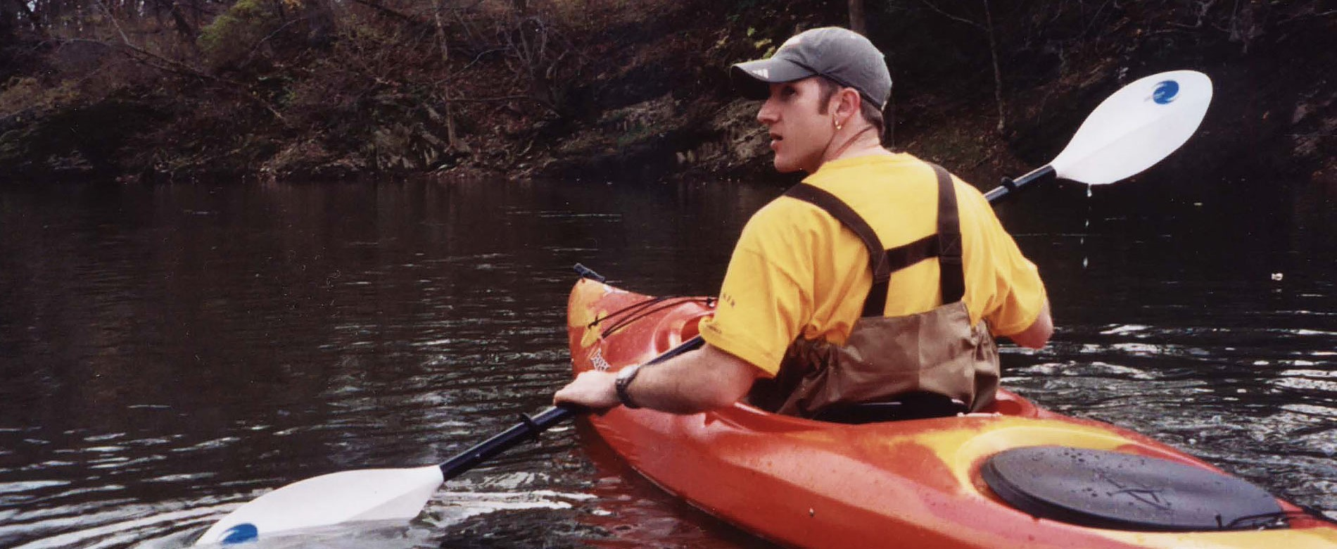 Kayaker on the Juniata River Water Trail