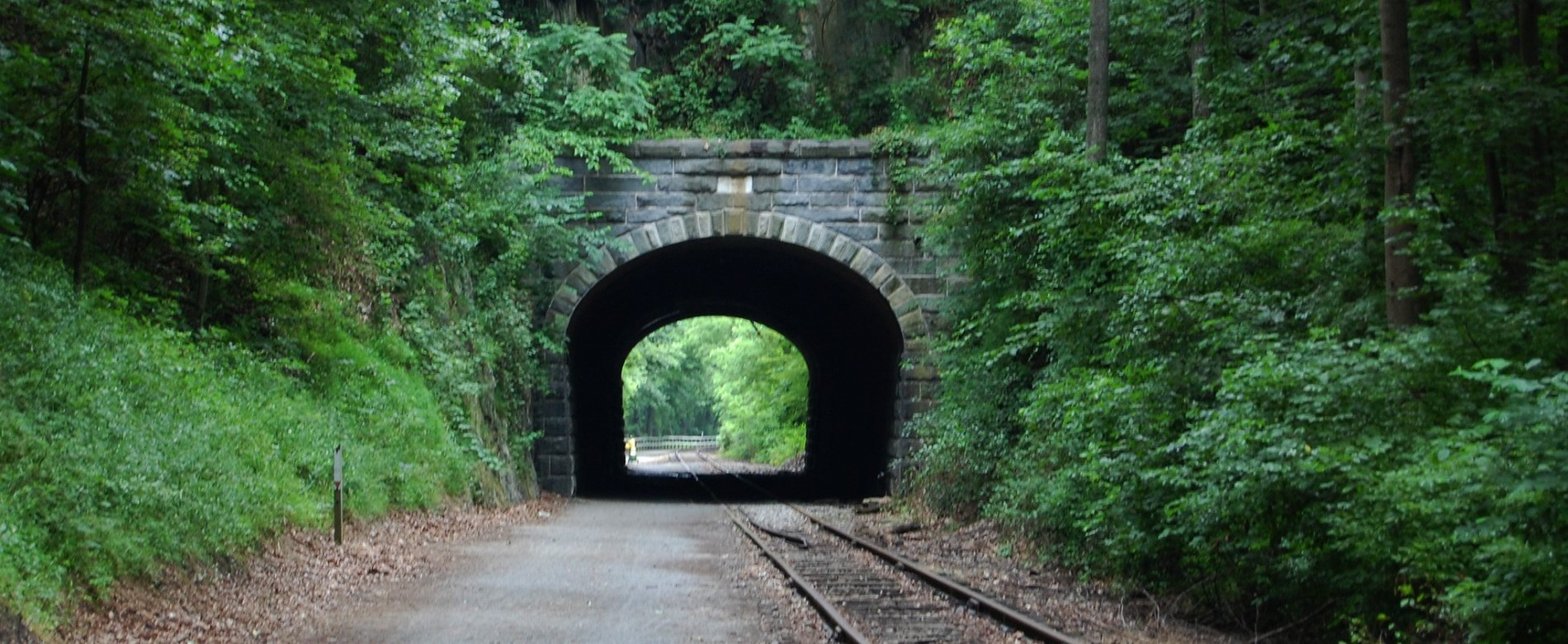 Railroad tunnel along the York Heritage Rail Trail