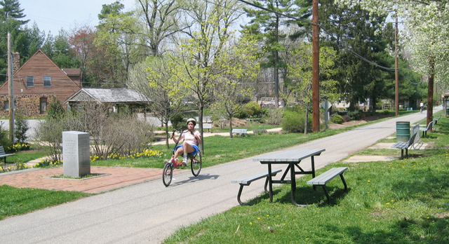 Biker on the Baltimore and Annapolis Trail