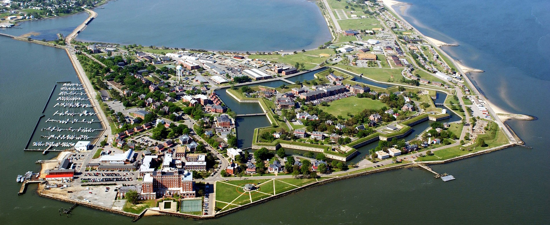 Fort Monroe, Virginia, from the Air US Army Photo