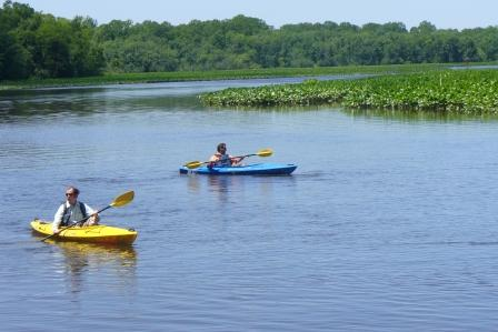 Kayakers on Nanticoke River Water Trail