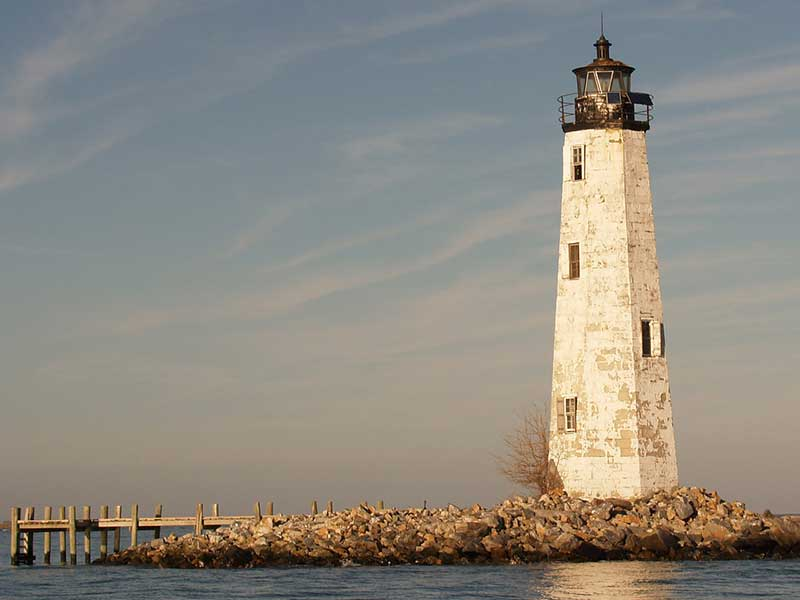 New Point Comfort lighthouse